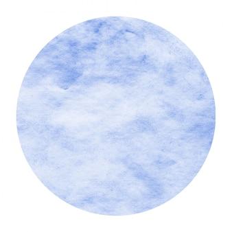 Moldura circular em aquarela de mão desenhada azul