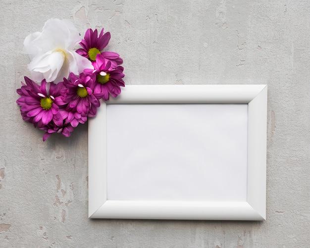 Moldura com flores