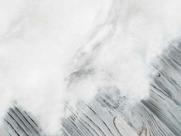 Moldura de algodão com vista superior e espaço para texto
