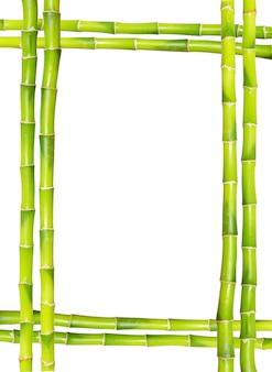 Moldura de bambu com copyspace