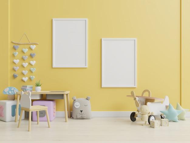 Moldura de cartaz no quarto de crianças, quarto de crianças, berçário.