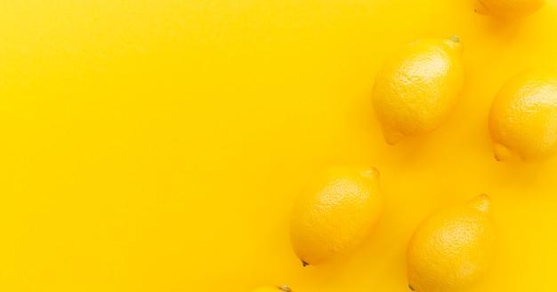 Moldura de citros de vista superior com espaço para texto