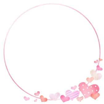 Moldura de coração com desenho de dia dos namorados