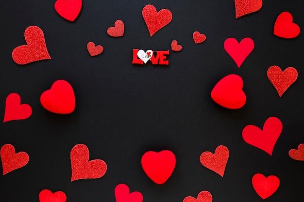 Moldura de corações para dia dos namorados