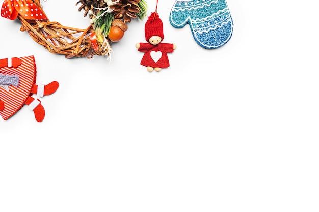 Moldura de decoração de natal em branco