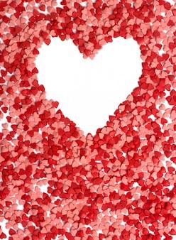 Moldura de forma de coração para plano de fundo dia dos namorados.