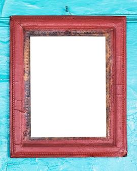 Moldura de foto em branco na parede velha