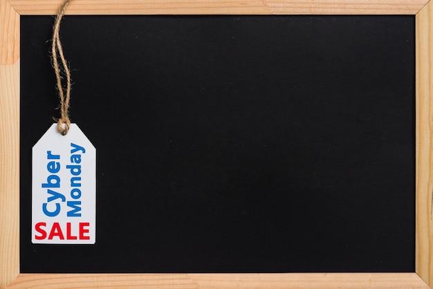 Moldura de foto grande clássico com etiqueta de venda