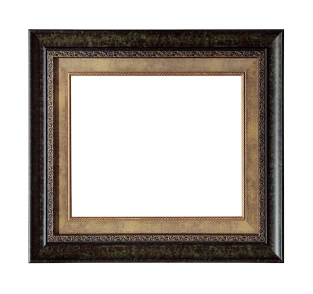 Moldura de foto retrô isolada no branco