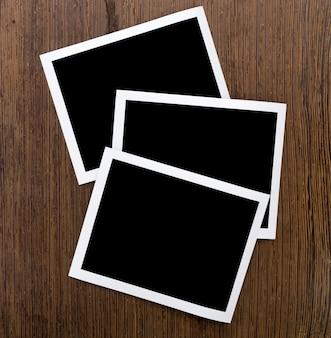 Moldura de fotografia instantânea em madeira