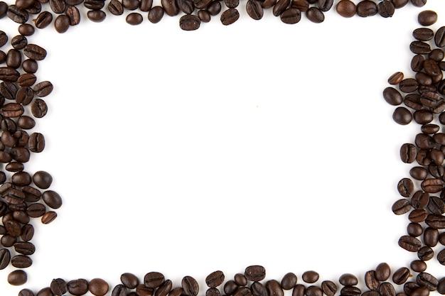 Moldura de grãos de café com espaço de cópia