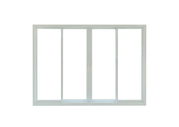 Moldura de janela de casa moderna isolada em fundo branco