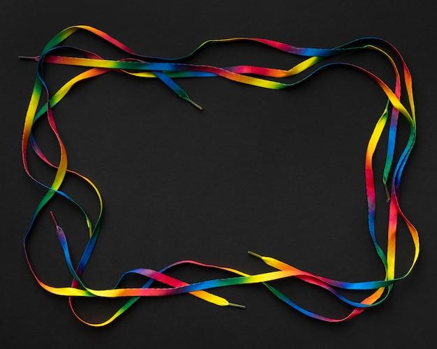 Moldura de laços coloridos planos