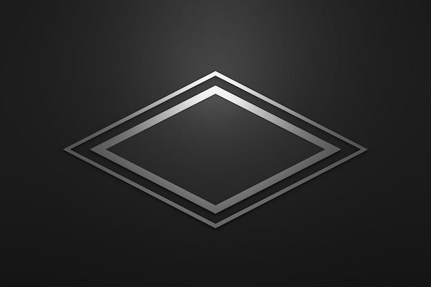 Moldura de logotipo em branco com estilo moderno em fundo preto.