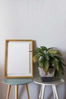 Moldura de madeira de decoração para você cartaz ou fotografia
