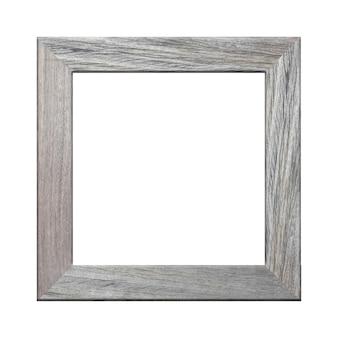 Moldura de madeira foto isolada no branco