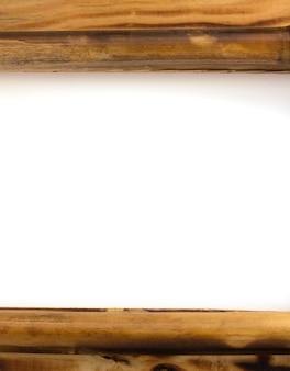 Moldura de madeira isolada em fundo branco