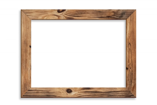 Moldura de madeira isolada