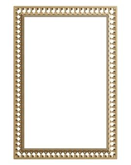 Moldura de moldagem clássica com decoração de ornamento para interior clássico isolada
