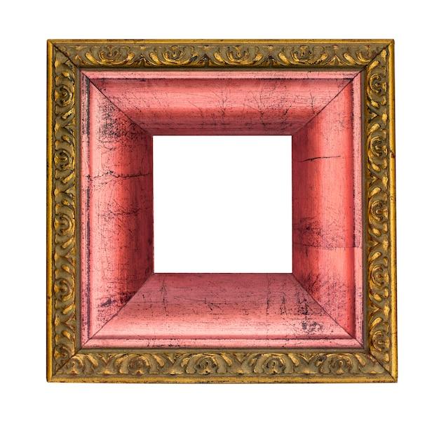 Moldura de ouro e rosa