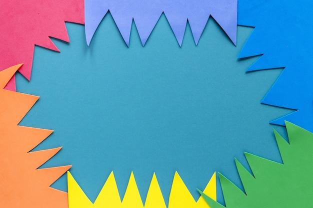 Moldura de papel colorido