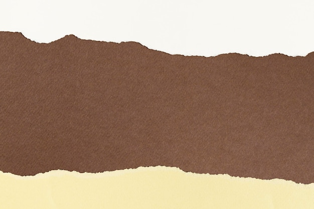 Moldura de papel pardo rasgado feito à mão em tons de terra.