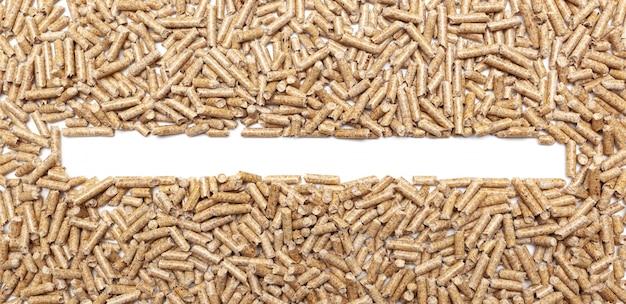 Moldura de pellets de madeira