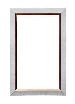 Moldura de tela de pintura clássica isolada em branco
