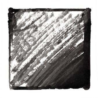 Moldura de tinta preta com traços. fundo abstrato. espaço para seu próprio texto. ilustração raster