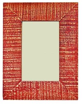 Moldura decorativa de vermelho com espaço em branco vazio