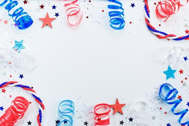 Moldura do dia da independência americana