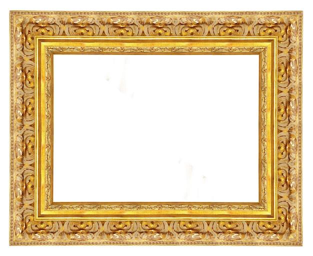 Moldura dourada antiga isolada no fundo branco