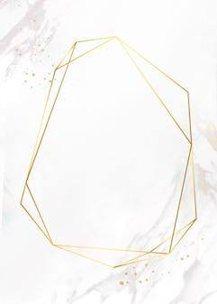 Moldura dourada em fundo de mármore