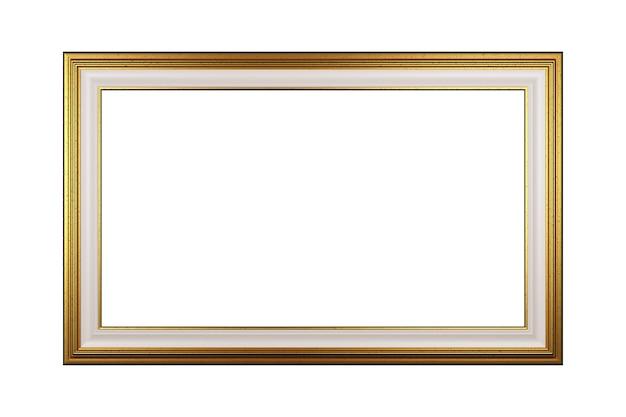 Moldura dourada vazia isolada