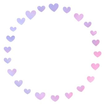 Moldura e design de conceito de coração adorável