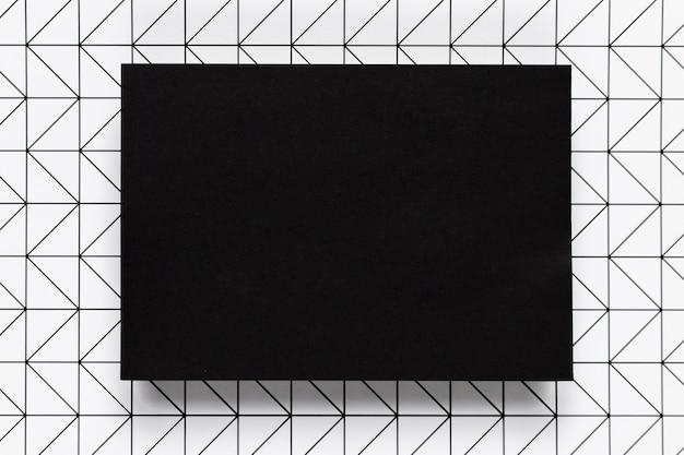 Moldura elegante preta com fundo padrão