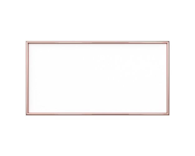 Moldura em branco isolada. tamanho horizontal