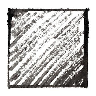 Moldura em tinta preta com sombreamento. espaço para seu próprio texto. fundo abstrato. ilustração raster