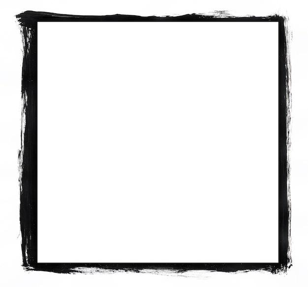 Moldura grunge preto e branco ideal para fotos