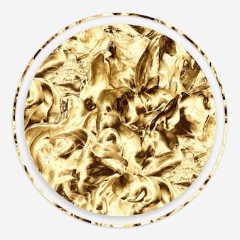 Moldura mínima abstrata dourada