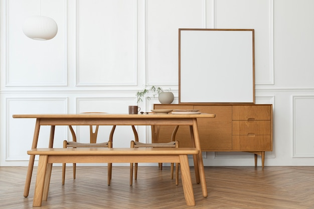 Moldura mínima com design escandinavo