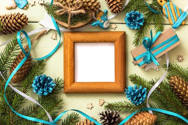 Moldura para fotos e texto de natal