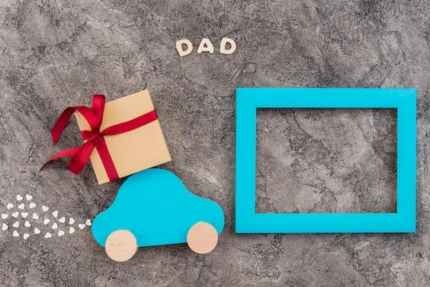 Moldura personalizada decorada para o dia dos pais