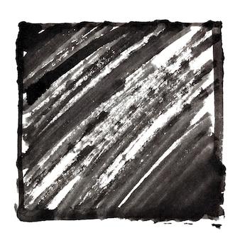 Moldura preta com sombreamento de tinta. espaço para seu próprio texto. fundo abstrato. ilustração raster