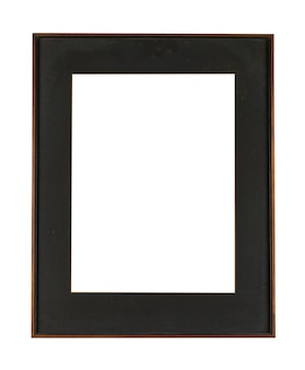 Moldura preta para pintura ou quadro isolado em um fundo branco