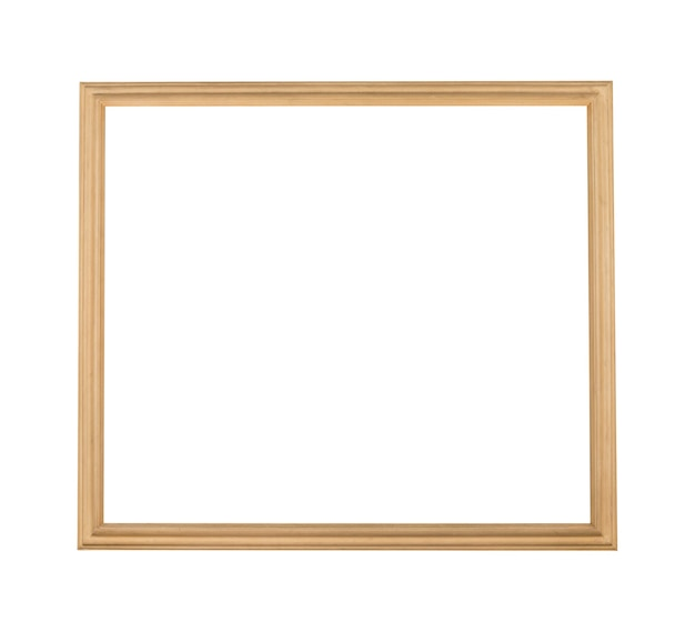 Moldura quadrada de madeira para pintura ou quadro isolado em um fundo branco