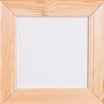 Moldura quadrada de madeira