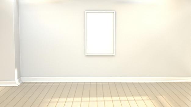 Moldura simples com uma parede vazia
