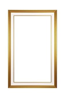Moldura vazia com retrato dourado isolada