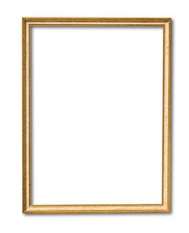 Moldura vintage dourada isolada no branco